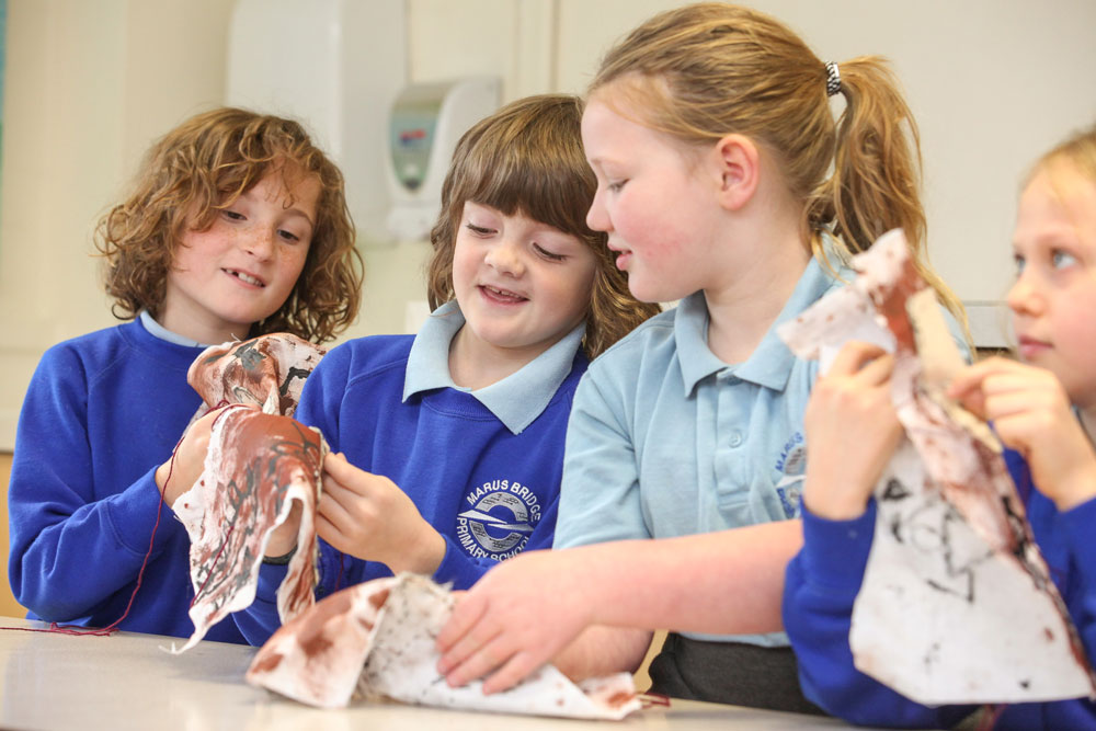 """Marus Bridge Primary School is vibrant, caring and highly valued by parents and the community."" -Ofsted 2012"