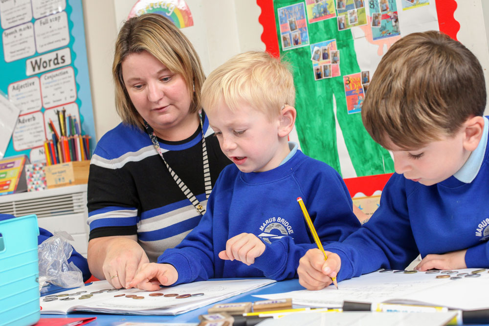 """Marus Bridge Primary School is vibrant, caring and highly valued by parents and the community."" - Ofsted 2012"